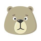 Teddy Bear Mask Autoadesivo per il bambino Fotografia Stock