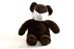 Teddy bear  masked Stock Photo