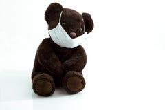 Teddy bear  masked Stock Photo