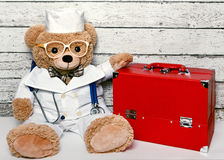 Teddy bear in medical clothing Stock Photography
