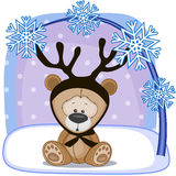 Teddy Bear met geweitakken Stock Foto's