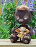Teddy-bear Mocca with girlfriend Stock Photos