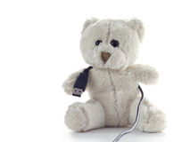Teddy bear on neutral background Royalty Free Stock Photos
