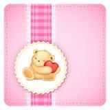 Teddy Bear no fundo do laço Fotos de Stock Royalty Free
