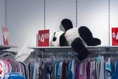 Teddy Bear noir et blanc Photo stock