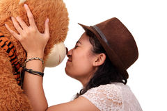 Teddy bear nose bump Stock Photos