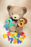 Teddy Bear with Numbers Stock Photos