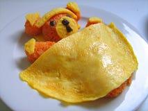 Teddy bear omelette Stock Photo