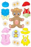 Teddy Bear Paper Doll Stockfotos