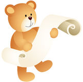 Teddy bear with a parchment Royalty Free Stock Photo