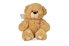 Teddy bear with patches Royalty Free Stock Images