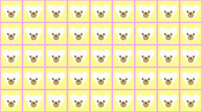 Teddy Bear Pattern Royalty Free Stock Photo