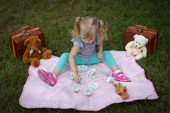 Teddy bear picnic stock photography