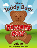 Teddy Bear Picnic Day Poster Fotografia de Stock Royalty Free