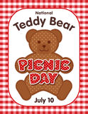 Teddy Bear Picnic Day Poster Royalty Free Stock Photos