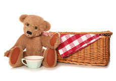 Teddy bear picnic tea party. Cutout Royalty Free Stock Images