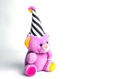 Teddy bear. Pink color teddy bear against a white background Stock Photos