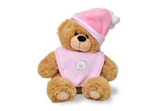 Teddy bear with pink hat Stock Images