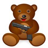 Teddy bear pistol vector illustration