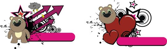 Teddy bear plush cartoon copyspace. In vector format royalty free illustration