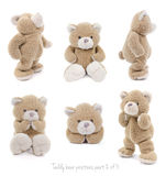 Teddy bear positions. Teddybear showing different set of positions stock photos