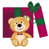 Teddy bear present Stock Photos