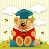 Teddy bear professor Stock Image