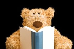 Teddy Bear Reading Stock Photography