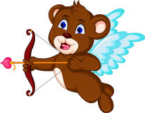 Teddy bear ready to shoot his arrow Stock Image