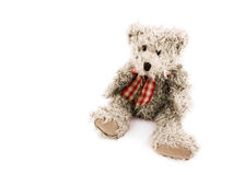 Teddy-bear with red bow Royalty Free Stock Images