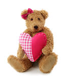 Teddy bear with red heart Royalty Free Stock Photo