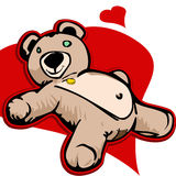 Teddy bear with red heart. Royalty Free Stock Photo