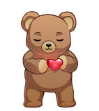 Teddy bear with red heart Stock Photo