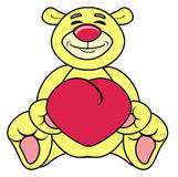 Teddy bear with a red heart Royalty Free Stock Image