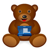 Teddy bear register Royalty Free Stock Photography