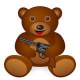 Teddy bear revolver Stock Images