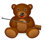 Teddy bear rifle Royalty Free Stock Photos