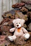 Teddy Bear on rock pile Royalty Free Stock Photos