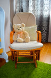 Teddy bear in rocking chair Royalty Free Stock Images