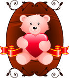 Teddy bear romantic Valentine's Day design background Royalty Free Stock Images