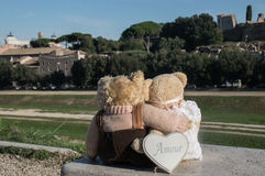 Teddy bear in Rome Royalty Free Stock Photo