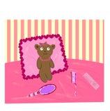Teddy bear. room  Stock Photos