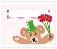 Teddy bear with roses Royalty Free Stock Images