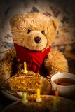 Teddy bear`s birthday. stock images