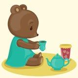 Teddy bear's tea time Royalty Free Stock Photos