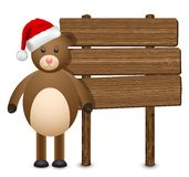 Teddy bear in a Santa Claus hat Royalty Free Stock Image