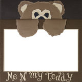Teddy Bear Scrapbook Frame Template stock image