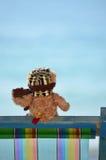 Teddy bear at the sea Royalty Free Stock Image