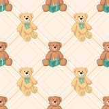 Teddy bear seamless background. Royalty Free Stock Photography