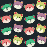Teddy Bear Seamless Background Pattern Fotografia Stock Libera da Diritti